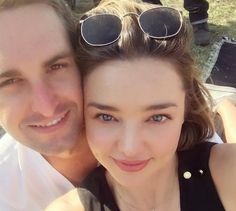 Miranda Kerr and longtime boyfriend, Snapchat CEO Evan Spiegel, announced their engagement on Instagram in the cutest way.