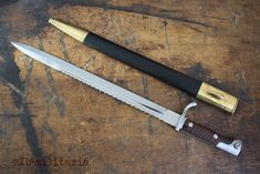 Bayonet 98 with saw, WWI, long butcher version
