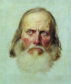 Бронников Федор Андреевич (1827-1902) Голова старика