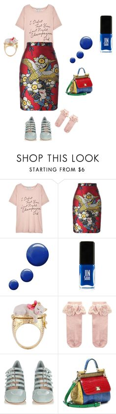 """""""Untitled #157"""" by mariela-hayoon on Polyvore featuring Wildfox, Dsquared2, Topshop, Jin Soon, Les Néréides, Monsoon, Miu Miu and Dolce&Gabbana"""