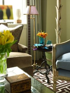 Classic, Collected & Timeless  Living  Vignette by Robert Passal Interior & Architectural Design