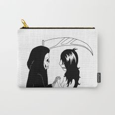 """Old Friends"" Carry-All Pouch For Sale! Illustrated by Nina LT  Online Store at society6.com/wednesday_expressions #wednesdayexpressions #onlineshop #shoponline #shop #store #illustration #art #handmade #midnightpoetry #poetry #ink #niume #quotes #qotd #potd #wotd #shortstory #artist #blackandwhite #poetrycommunity #writer #awesome #micropoetry #inspiration #wordporn #literature #poetryisnotdead #life #death #love"