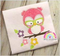 EXCLUSIVE! Spring Owl Girls Shirt - Cute Owl Shirt- Girls Owl Shirt- Personalization Available
