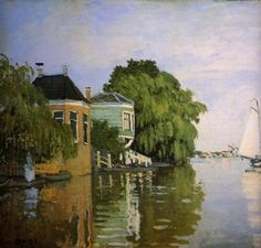 Landscape Near Zaandam by Claude Monet