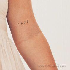 1995 birth year tattoo (set of # 3 year .- 1995 Year of Birth Tattoo (Set of # 3 # Year of Birth # Set # Tattoo - Mini Tattoos, Jj Tattoos, Danty Tattoos, Number Tattoos, Finger Tattoos, Cute Tattoos, Small Tattoos, Tatoos, Number Tattoo Fonts