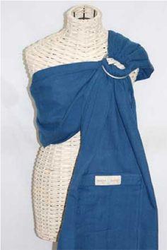 Twilight Blue lightly padded ring sling.  www.wovenwraps.com Maya Wrap, Ergonomic Baby Carrier, Ring Sling, Baby Sling, Overalls, Stylish, Medium, Cotton, Twilight