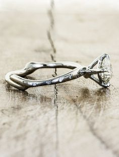 Aurora - Ken And Dana Design Nature-Inspired Engagement Rings- love that they're from recycled material!