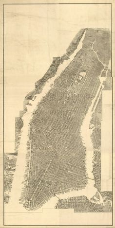 Vintage Map - Manhattan, New York 1900 it's is what New York City looked like as a whole