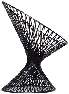 Carbon-fiber 'Spun Chair' by Mathias Bengtsson of Denmark, 2002