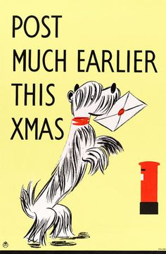 Post Much Earlier this Xmas. Circa 1940.  $15.00 #vintage #christmas #dog