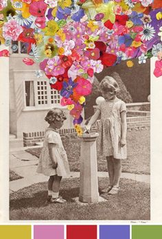 Artist Ben Giles collages, an apt post after Stella McCartney's Spring 2012 Campaign below - cate st hill Art Photography, Flower Collage, Art Inspo, Photomontage, Illustration, Drawings, Art, Art Journal, Pop Art