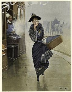 1892........PARISIENNE MANGEANT DES MARRONS........PARTAGE DE LE PEINTRE JEAN BERAUD...........SUR FACEBOOK......