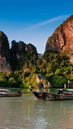 Fishing boats in Thailand - Explore the World with Travel Nerd Nici, one Country at a Time. http://TravelNerdNici.com