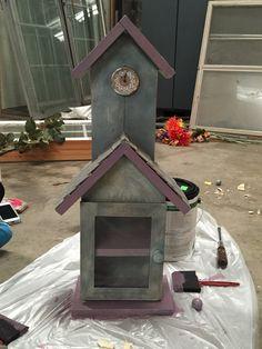 DIY Shelf. Can easily be made into a Bird House!