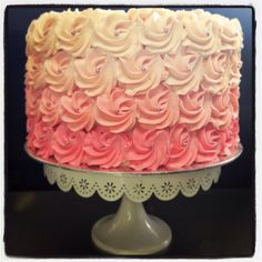 Strawberry Pink Ombré Projects To Try, Strawberry, Cakes, Desserts, Pink, Food, Tailgate Desserts, Rose, Meal