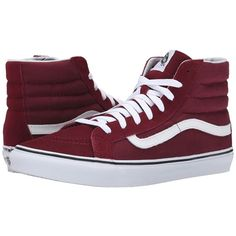 Vans SK8-Hi Slim Skate Shoes ($55) ❤ liked on Polyvore featuring shoes, sneakers, waist trainer, hi top sneakers, women shoes, high top trainers i leather high tops