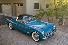 Chevrolet Corvette Bubbletop Roadster 1954 this is when they had some REAL style!! One of these says I will have one!