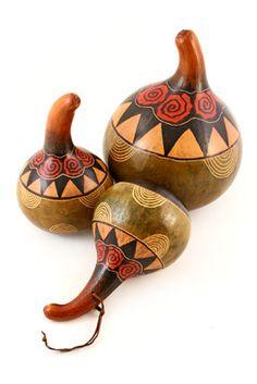 Kenyan Hand Dyed Archway Gourds | ❂ GOURDS