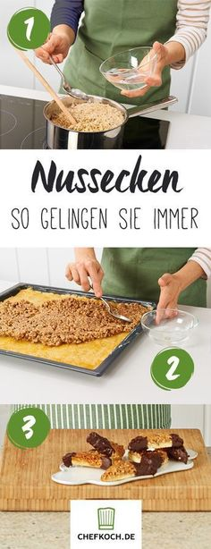 Nussecken Home Inspiration my inspiration at home recipes No Bake Desserts, Dessert Recipes, Appetizer Recipes, German Baking, Sweet Bakery, Cookies, Christmas Baking, Food Inspiration, Sweet Recipes