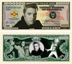 Snow Leopard Million Dollar Bill Fake Play Funny Money Novelty with FREE SLEEVE