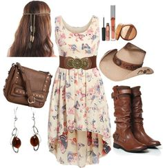 Country western outfits, robes country, country wear, country girl style, c Country Style Outfits, Country Girl Style, Country Fashion, Country Girl Dresses, Southern Style, Country Outfits For Women, Cowgirl Outfits For Women Dresses, Country Western Outfits, Western Dresses
