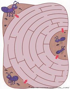 doolhof thema mieren, met een magneet?