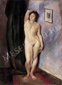 Szőnyi István (1894-1960) Akt műteremben (72 x 102 cm) című alkotásának jellemzői - Kieselbach