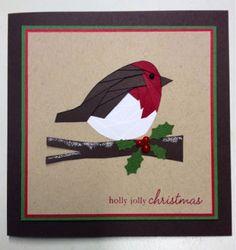 Iris folded Christmas Robin