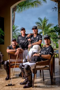 Shooting Stars. Ellerstina Piaget Team Clockwise From Top Left: Mariano Aguerre, Gonzalo Pieres, Nicolas Pieres and Facundo Pieres for Haute Living Magazine. April / May 2014 Edition. #Piaget #Polo #Watch