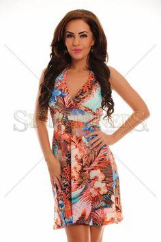 Exotic Meeting Orange Dress