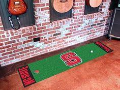 "North Carolina State Wolfpack 18 x 72"" Golf Putting Green Runner Floor Mat"