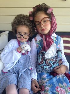 Old Ladies - Kid Halloween Costumes.
