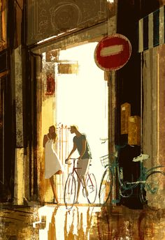 Friday night ride. #pascalcampion -Thank you for riding back with me. -No problem at all..I didn't you rode! -Oh yes, all the time....do you want to come in for a drink?  -Nah... I think I better head back now.  -Are you SURE?  -Yeah.....don't want to bother you. _It's really no bother at all. _I don't know..I think I better get going. _.....  The sad and funny thing about this is that it actually happened to me. It took me ten years to realize that a drink is not always a drink.