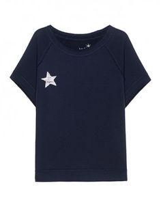 JUVIA Star Print Short Fleece Navy