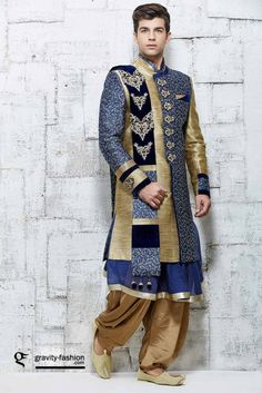 attractive wedding sherwani 2015, traditional indian sherwani 2015 & 2016, latest wedding shervani patiala suit with coat