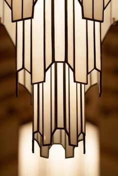Art Deco Hanging Lamp.- in living room!! So glad I have tall ceilings now