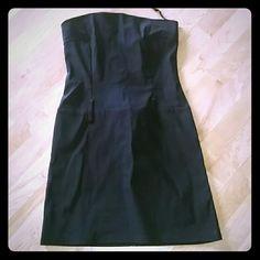 Dress Beautiful flattering black dress made in USA worn once joanna Dresses Prom
