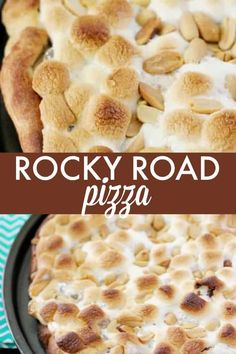 Four Kitchen Decorating Suggestions Which Can Be Cheap And Simple To Carry Out Rocky Road Pizza - Dessert Pizza Extraordinaire Loaded With Marshmallows, Creamy Nutella And Crunchy Peanuts Sweet Desserts, Easy Desserts, Sweet Recipes, Delicious Desserts, Dessert Recipes, Breakfast Recipes, Potluck Recipes, Dessert Ideas, Easy Recipes