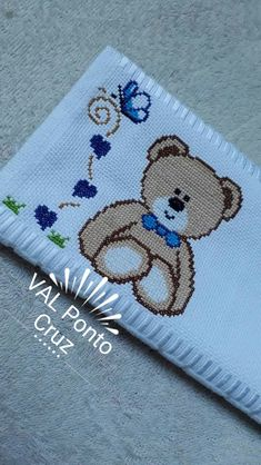 Cross Stitch, Snoopy, Baby Shower, Bear, Embroidery, Diy, Easy Cross Stitch, Cross Stitch Borders, Hand Embroidery
