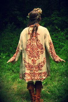 Embroidered Bohemian jacket
