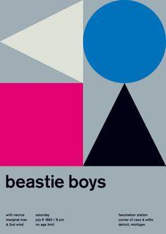 Swissted é um projeto do designer gráfico americano Mike Joyce, que uniu as suas paixões por modernismo suíço e música, recriando flyers de shows com a tipografia do estilo suíço dos anos 50. Fonte: http://www.swissted.com/