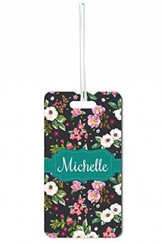 Luggage Tags Collections | Flower Blossoms Set of 4 Customizable Luggage Tags >>> Read more reviews of the product by visiting the link on the image. Note:It is Affiliate Link to Amazon.