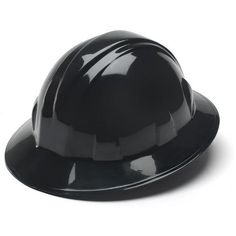 1e1eb81009b Pyramex HP24111 Full Brim Hard Hat - 4-Point Ratchet Suspension - Black