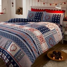 NORDIC SNOWFLAKE THERMAL FLANNELETTE QUILT DUVET COVER BEDDING SET & PILLOWCASE in Home, Furniture & DIY, Bedding, Bed Linens & Sets | eBay