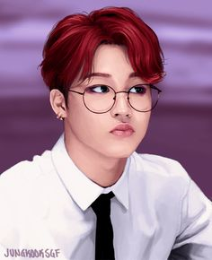 BTS Fanart Jimin... who said he ain't got jams? just lol at his hair!