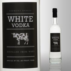 Vermont White Vodka Sure, there are all kinds of funky vodkas (check out our slideshow of 17 of the craziest ones), but Vermont White is so unique, it's practically in a separate category. The alcohol is made from pure milk sugar (AKA lactose) in small batches. The real kicker? The final product is lactose-free.
