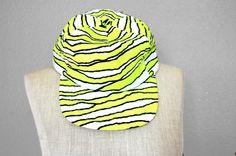 Vintage 90s Neon Yellow // White Tiger Stripe by ThrowbackRack, $10.00 /// www.art-by-ken.com