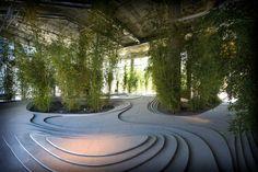 Naturescape, sala de exposición en Milán