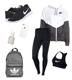 """""""School Clothes #13"""" by lily141 on Polyvore featuring NIKE, adidas and Essie"""