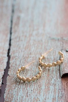 $50.00 USD hoop earrings Raw earrings Small hoop by PieceofmineJewelry